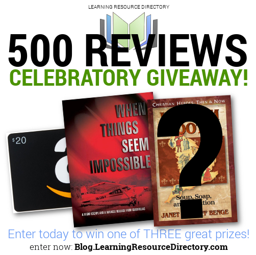 500 Reviews Celebratory Giveway!
