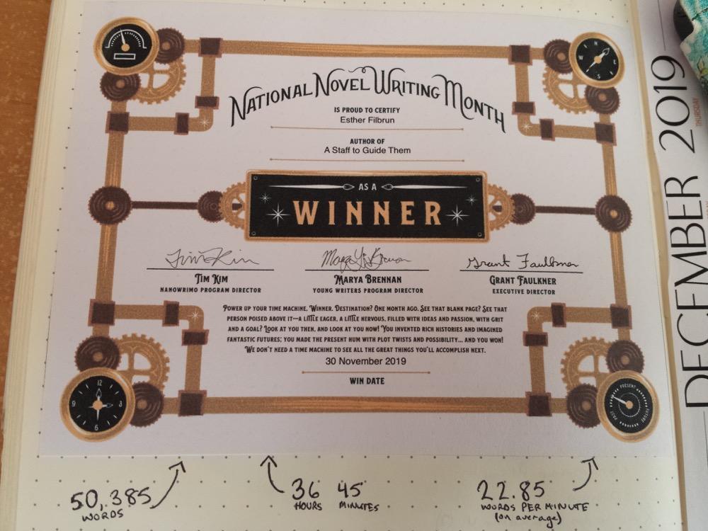 NaNo Winner's Certificate